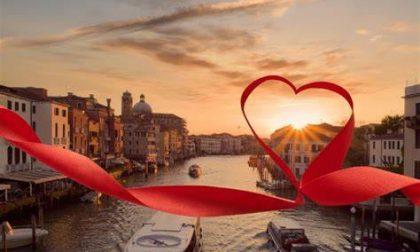 """Venezia: a San Valentino """"Scuola del Bacio"""" in piazza San Marco"""