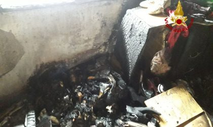 Asciugatrice in fiamme, anziano salvato dai Vigili del fuoco a Musile