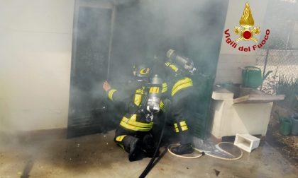 Incendio a San Stino di Livenza: garage prende fuoco il giorno di Pasqua GALLERY