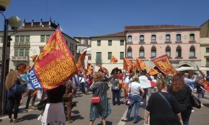 Piazza Ferretto: manifestazione di Forza Italia per i diritti dei lavoratori GALLERY