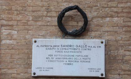 Commemorazione del partigiano Sandro Gallo, a 76 anni dalla morte: ieri la cerimonia al Lido