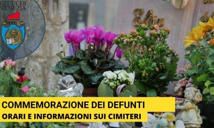 Commemorazione dei defunti, i 16 cimiteri di Venezia aperti dalle 7.30 alle 17