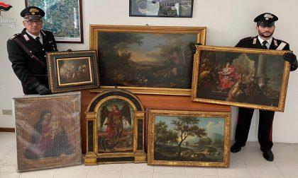 Si impossessa dei quadri di valore ricevuti da un intermediario: denunciato commerciante 68enne