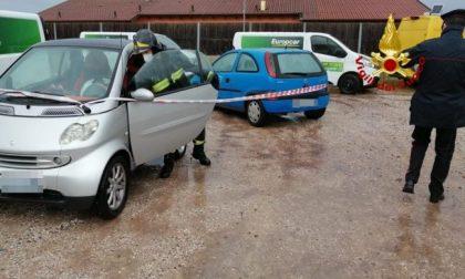 Fattorino di Stra colpito da un fulmine nel parcheggio: rianimato dai Vigili del Fuoco