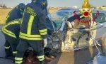 Incidente lungo via Martire delle Foibe, ferito un automobilista FOTO