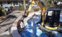 Iniziato il restauro della fontana di piazza Brescia