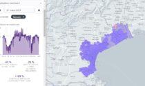 Altro che zona rossa: in provincia di Venezia movimenti su del 189 % rispetto al 2020