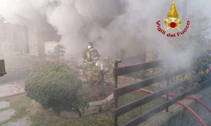 Le foto dell'incendio del seminterrato a Cazzago di Pianiga