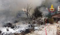 Capanno degli attrezzi in fiamme a Marghera: un anziano ustionato