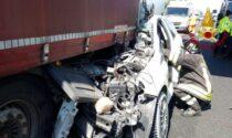 Tragedia in A4, auto finisce sotto il camion: morto un 45enne di Valdobbiadene