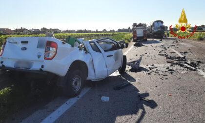Incidente mortale tra furgone e camion a Musile di Piave