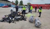 Sequestrato container al porto di Venezia contenente pneumatici, materiale elettrico e rifiuti pericolosi