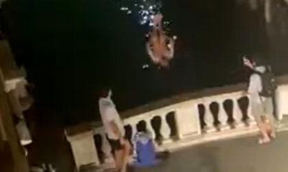 Il video del tuffo acrobatico dal Ponte dei Bareteri
