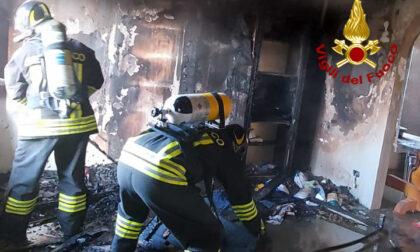Spaventoso incendio all'interno di un'abitazione a Portogruaro